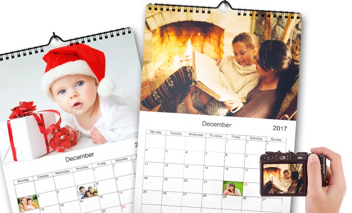 One, Two or Three Personalised A4 Wall Mount Calendars from £2.99 (Up to 82% Off)