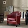 Kildare Black Bonded Leather Tub Chair