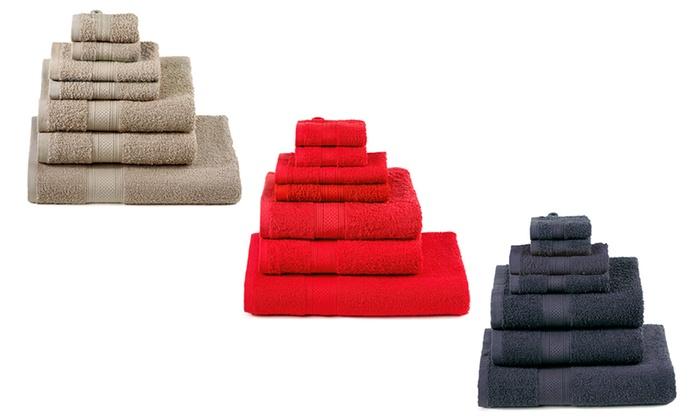 7 teiliges handtuch set groupon goods. Black Bedroom Furniture Sets. Home Design Ideas