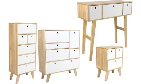 Juego de muebles de dormitorio de estilo escandinavo Keiko