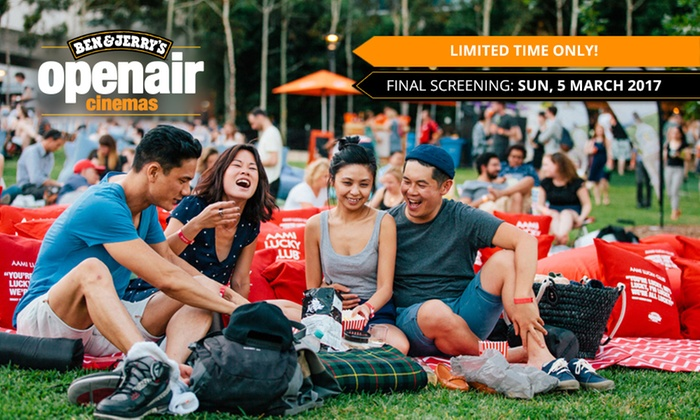 Ben & Jerry's Openair Cinema - Auckland - Auckland: Mate or Date Night Movie Package for One ($23) or Two People ($46) at Ben & Jerry's Openair Cinema