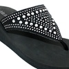 Olivia Miller Capizzi Women's Embellished Wedged Sandals