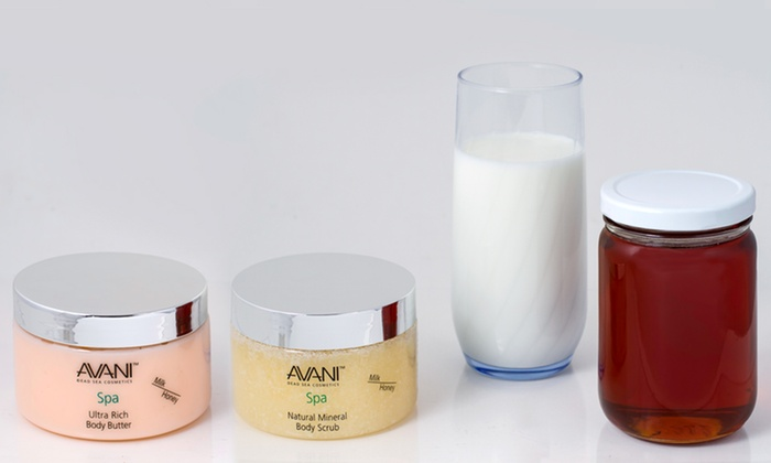 Avani Ultra Rich Milk and Honey Body Butter and Body Scrub Set