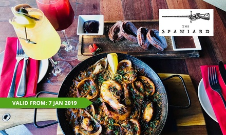 Two-Course Spanish Meal with Sangria for 2 ($45), 4 ($90) or 6 People ($129) at The Spaniard (Up to $264 Value)
