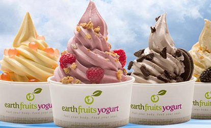 AED 30, AED 50 or AED 100 Towards Frozen Yogurt at EarthFruits Yogurt, Two Locations (50% Off)