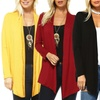 Isaac Liev Women's Lightweight Flyaway Cardigan. Plus Sizes Available.