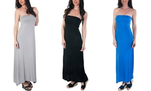 Agiato Women's 2-in-1 Convertible Maxi Dress. Plus Sizes Available.