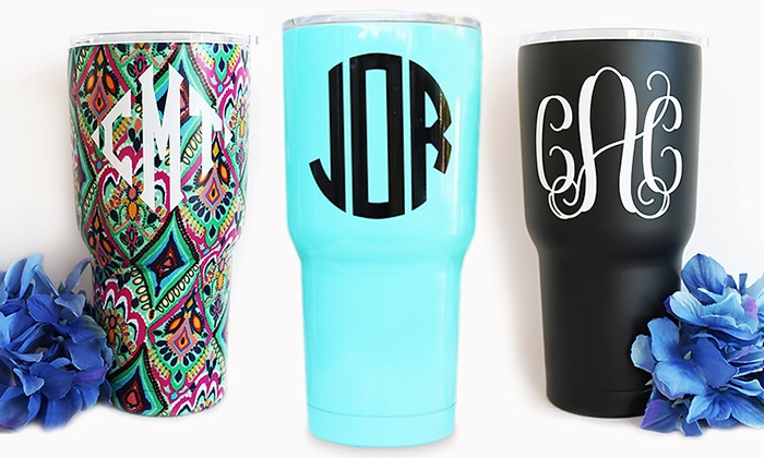 KraftyChix: One or Two Personalized or Gorgeous Prints Hot or Cold Tumblers from KraftyChix (Up to 47% Off)