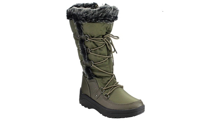 Women's Mata Waterproof Fur-Lined Snow Boots (Size 9) | Groupon