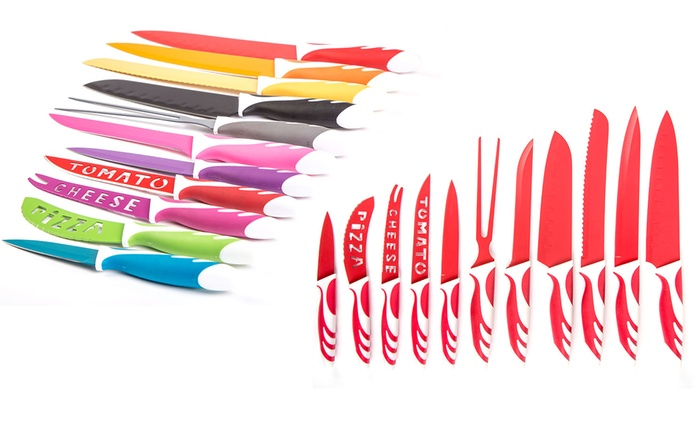 Set di coltelli da 12 pezzi disponibili in 3 colori diversi a 11,99 €