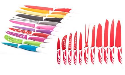 12-teiliges Messer-Set in Rot inkl. Geschenkbox (Hamburg)