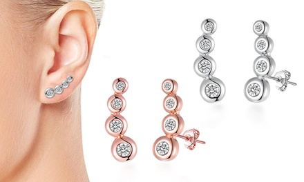 Four-Stone Climber Earrings with Crystals from Swarovski®