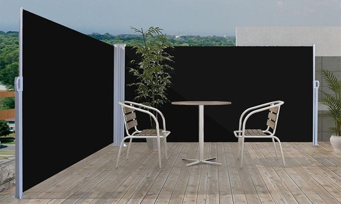 Toldo lateral de jardin o terraza groupon for Toldo lateral para terraza