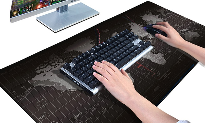 World Map Office Gaming Mouse Pad