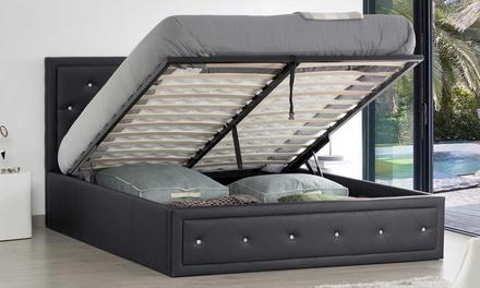 lit coffre strass avec ou sans matelas groupon. Black Bedroom Furniture Sets. Home Design Ideas