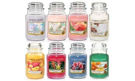 Fino a 4 giare grandi Yankee Candle, disponibili in varie profumazioni