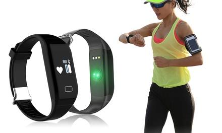 SB15 sportarmband met bluetooth en functies om je hartslag te meten