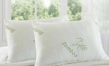 2x Cooling Bamboo Memory Foam Pillows