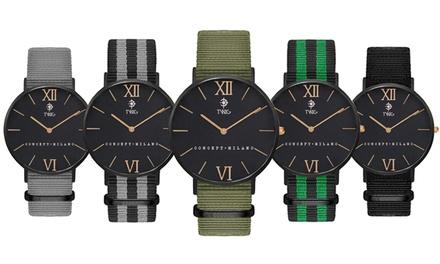 Montre Unisexe ultra plate bracelet NATO, de la marque Twig concept milano à 29,98 € (-73%)
