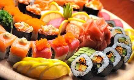 Sushi box d'asporto fino a 50 pezzi