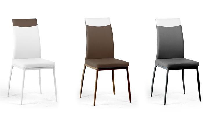 Set 4 sedie Supreme in ecopelle | Groupon Goods