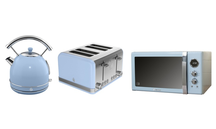 Up To 49 Off Swan Microwave Kettle And Toaster Groupon