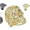 Spikes Men's Mesh Skull Stainless Steel Rings