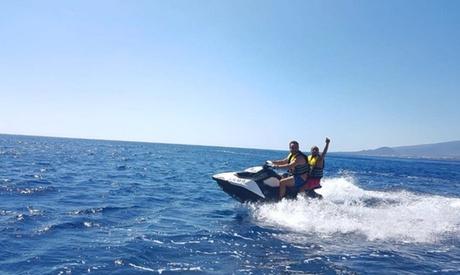 60 o 120 minutos en 1 o 2 motos de agua para hasta 4 personas desde 59 € en Tenerife Paddleboard Oferta en Groupon