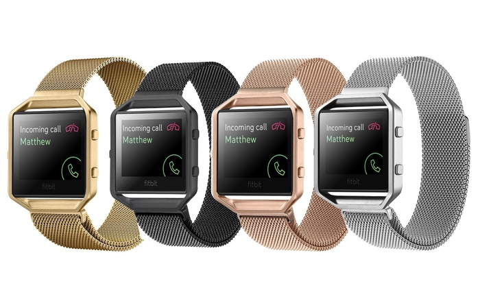 Milanese Loop Stainless Steel Band for Fitbit Blaze Smart Fitness Watch