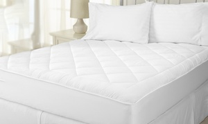 All-Seasons Reversible Sherpa-Quilted Mattress Pad