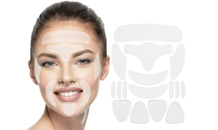16-Piece Reusable Silicone Face Anti-Wrinkle Pads: One Set ($14) or Two Sets ($19)