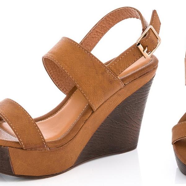 f34556295c Lady Godiva Laura Women's Platform Wedge Sandals | Groupon