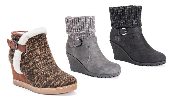 9db70f8ade87 Muk Luks AnnMarie or Georgia Women s Wedge Booties (Size 10)