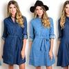 Women's Junior Denim Mini Dresses