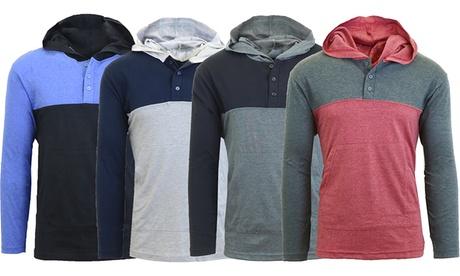 Men's Lightweight Long-Sleeve Pullover Hoodie