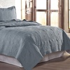 Solid Embroidered Quilt Sets (3-Piece)