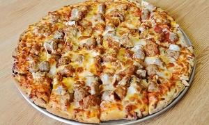 Boss' Pizza & Chicken: Pizza and Chicken at Boss' Pizza & Chicken in South Minneapolis (Up to 44% Off). Four Options Available.