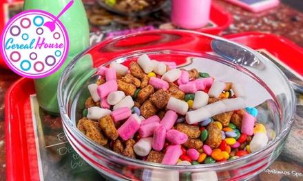 2 o 4 boles de cereales con lácteo y topping y opción a premium con batido y gofre o crepe desde 4,25€ en 9 Cereal House