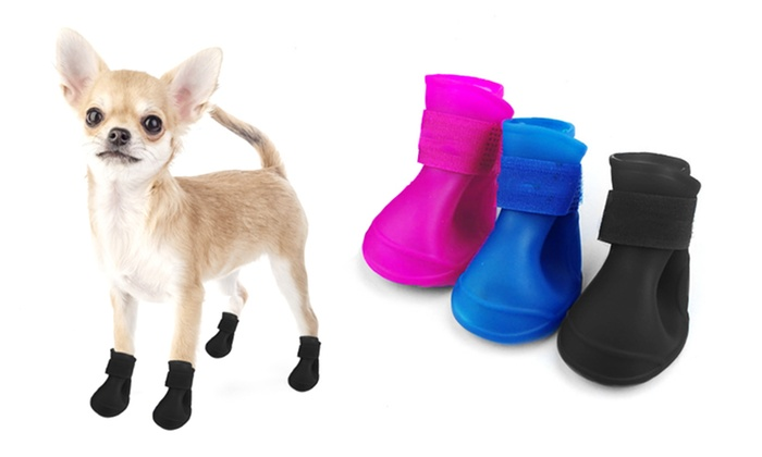 Paw Protector Rain Boots For Dogs 4 Pack Groupon