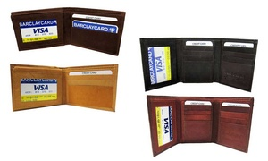 Genuine Leather Trifold or Bifold Wallet