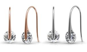 (Bijou)  Boucles d'oreilles cristaux Swarovski® -65% réduction