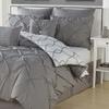 Reversible Pintucked Comforter Set (8-Piece)