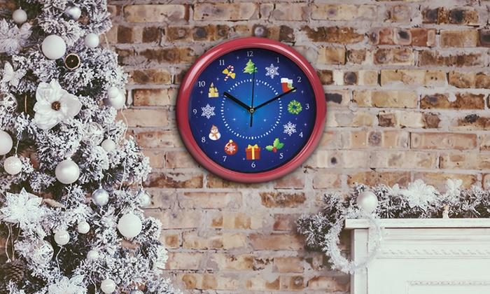 One Or Two Pms International Musical Christmas Wall Clocks