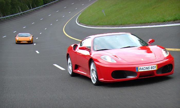 Racing Box - Cayuga: Racing Luxury-Car Driving Experience in a Ferrari or Lamborghini at Racing Box in Cayuga (Up to Half Off)