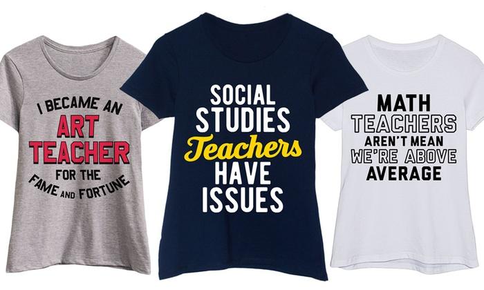 Women S School Teacher Tees Groupon Goods