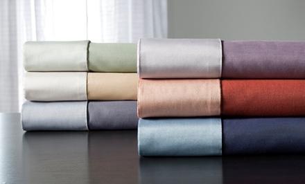 600-Thread-Count Reversible Cotton-Rich Sheet Set