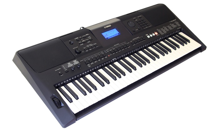 yamaha psr e453 61 key touch response keyboard groupon