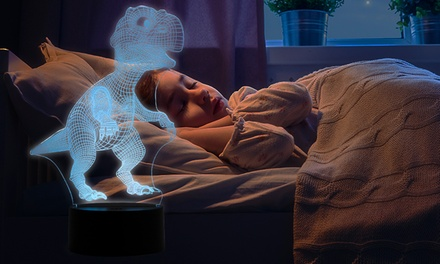 One or Two ColourChanging 3D Dinosaur Night Lights