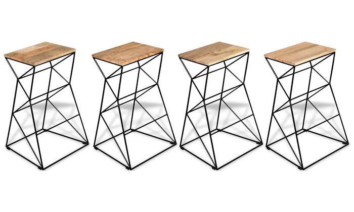 jusqu 39 54 tabouret de bar en fer groupon. Black Bedroom Furniture Sets. Home Design Ideas
