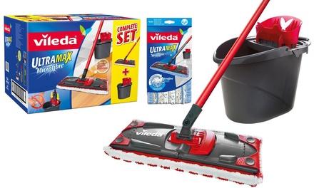Set de nettoyage Vileda Ultramax (balais et seau inclus) avec 1 recharge offerte